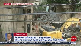 Foto: Demolición Fábrica Dañada Sismo Iztapalapa 22 Mayo 2019
