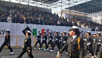 Foto: Conmemoración del 157 Aniversario de la Heroica Batalla de Puebla, mayo 5 de 2019 (Twitter: @M_OlgaSCordero)