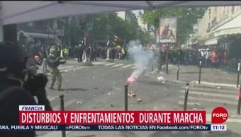 FOTO: Disturbios y enfrentamientos durante marcha del 1 de mayo en Francia, 1 MAYO 2019
