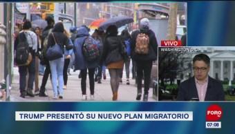 Donald Trump presentó su nuevo plan migratorio