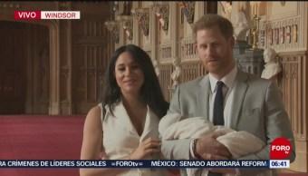Duques de Sussex presentan oficialmente a su primer hijo
