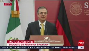 Ebrard: Relación bilateral con Alemania, una de las más importantes para México