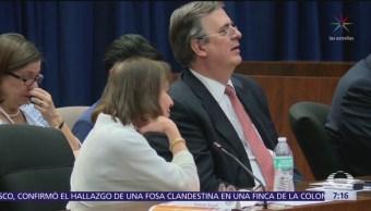 Ebrard se reúne con funcionarios estadounidenses