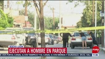 Ejecutan a hombre en parque de Monterrey, Nuevo León