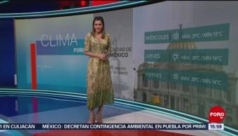 Foto: El Clima 'A las Tres' con Daniela Álvarez del 14 de abril