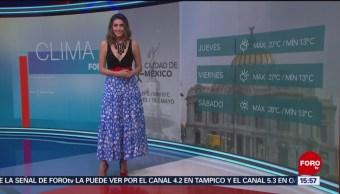 FOTO: El Clima 'A las Tres' con Daniela Álvarez del 15 de mayo de 2019