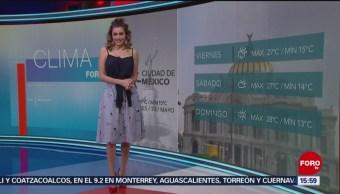 FOTO: El Clima 'A las Tres' con Daniela Álvarez del 23 de mayo de 2019