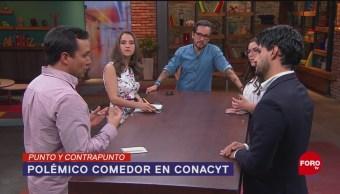 Foto: Comedor Lujo Gourmet Conacyt Austeridad AMLO 28 Mayo 2019