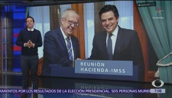 El secretario Carlos Urzúa se reunió con Zoé Robledo