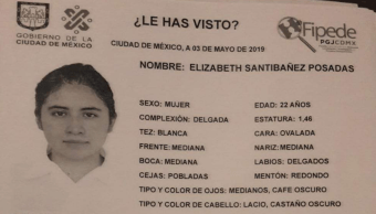 Foto Elizabeth Santibañez Posadas Desaparecida UNAM 3 Mayo 2019