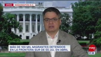 En abril, más de 100 mil migrantes fueron detenidos en EU