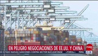 FOTO: En peligro negociaciones de EE.UU. y China, 5 MAYO 2019