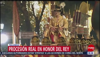 FOTO: En Tailandia siguen los festejos en homenaje a su nuevo rey, 4 MAYO 2019
