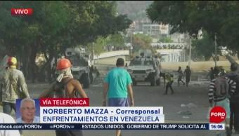 FOTO: Enfrentamientos en inmediaciones de La Carlota, 1 MAYO 2019