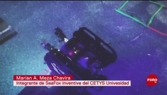 FOTO: Estudiantes mexicanos trabajan en dron submarino, 26 MAYO 2019
