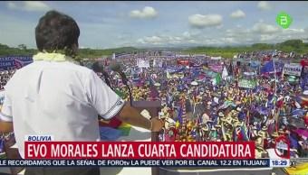 FOTO: Evo Morales lanza cuarta candidatura en Bolivia, 18 MAYO 2019