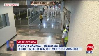 Flamazo en estación del Metro Chabacano deja tres lesionados