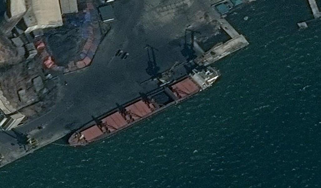 Foto: Imagen del buque de carga norcoreano incautado por Estados Unidos. El 9 de mayo de 2019