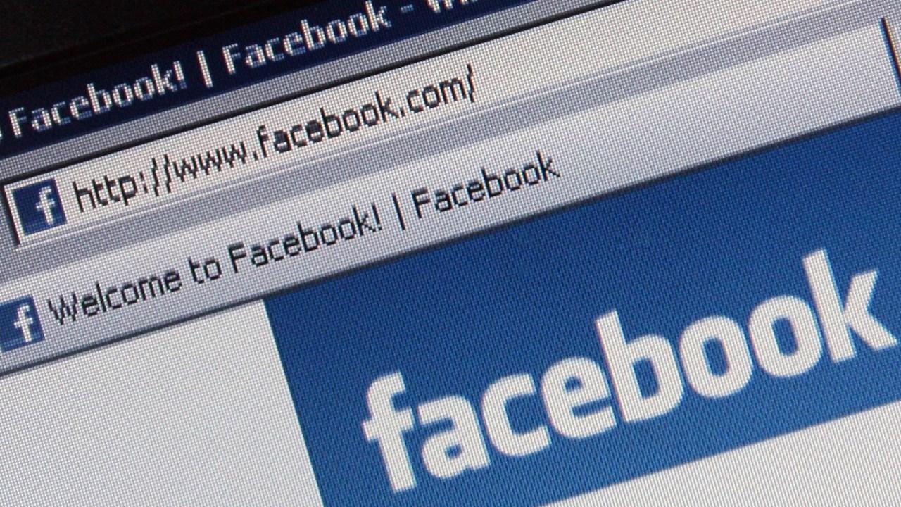 Foto: Página de inicio de la red social Facebook