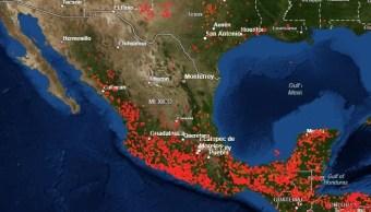 Foto: Incendios forestales en México. El 12 de mayo de 2019