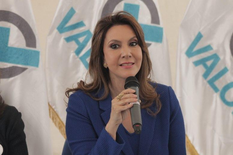 Zury Ríos, candidata presidencial del partido político Valor en Guatemala. El 13 de mayo de 2019