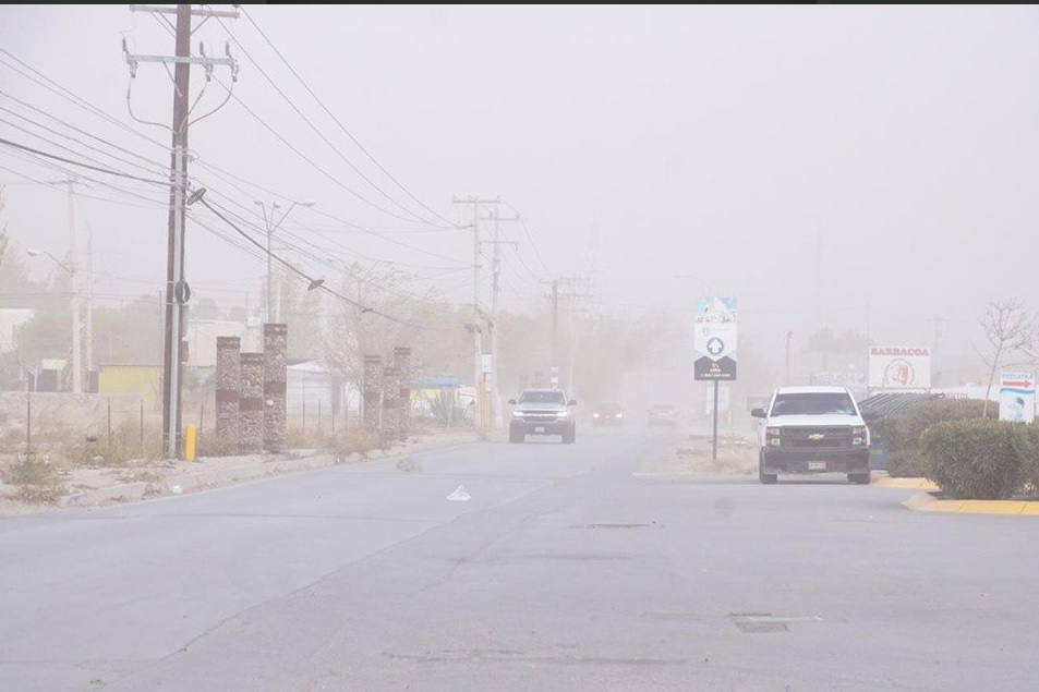 Foto: fuertes vientos en Cd. Juárez, Chihuahua, 27 de mayo 2019. Twitter @MunicipioJuarez
