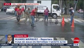 FOTO: Fuga de agua en Lomas de Chapultepec