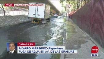 Fuga de aguas negras en alcaldía Azcapotzalco