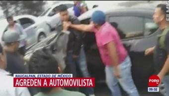 Golpean a automovilista tras choque en Naucalpan, Edomex