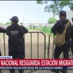 FOTO: Guardia Nacional resguarda la estación migratoria en Tapachula