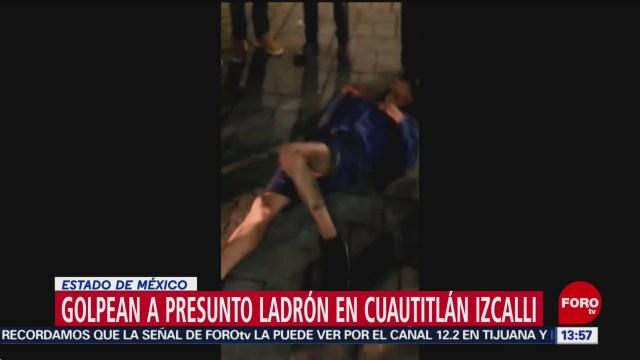 FOTO: Habitantes de Cuautitlán Izcalli golpean a ladrón