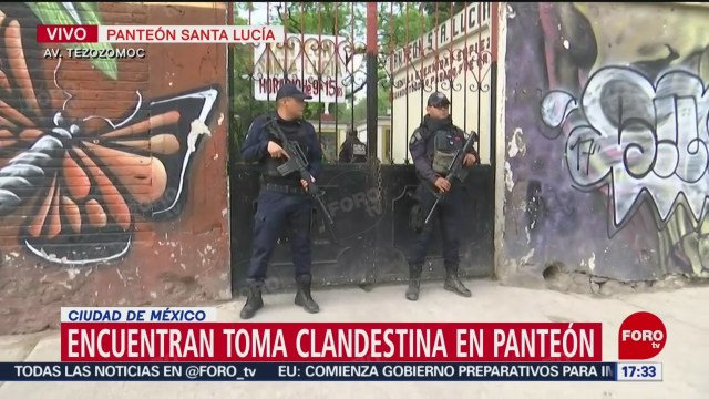FOTO: Hallan toma clandestina en panteón en la CDMX, 11 MAYO 2019