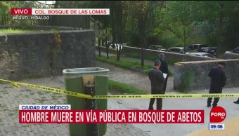Hombre muere en vía pública en Bosques de las Lomas, CDMX