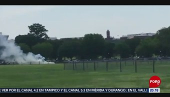 Foto: Hombre Se Prende Fuego Casa Blanca EEUU 29 Mayo 2019