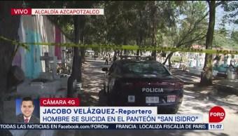 Hombre se suicida en el panteón 'San Isidro', en CDMX