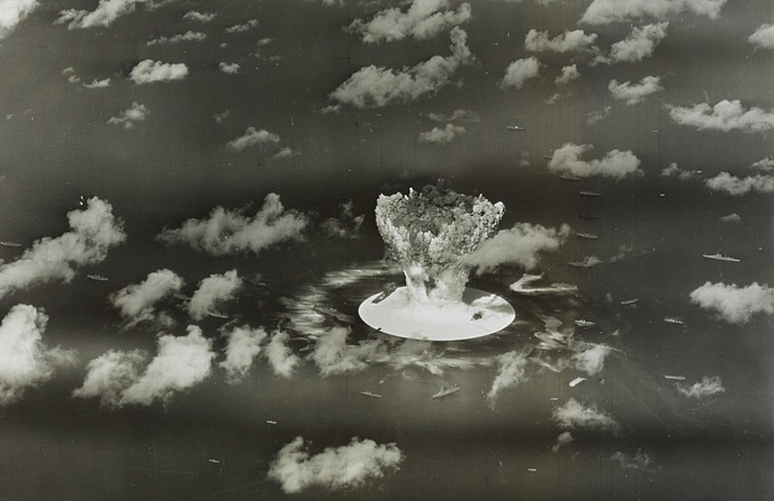 Imagen de un ensayo nuclear estadounidense realizado en 1946 en el atolón de Bikini, en las Islas Marshall (Reuters)