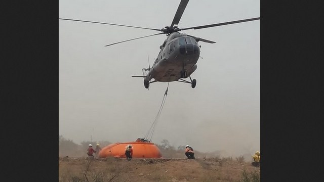 Foto: incendio forestal en Chilpancingo, 7 de mayo 2019. Twitter @CONAFOR