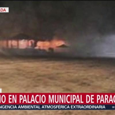 Incendio en Palacio Municipal de Paracho, Michoacán