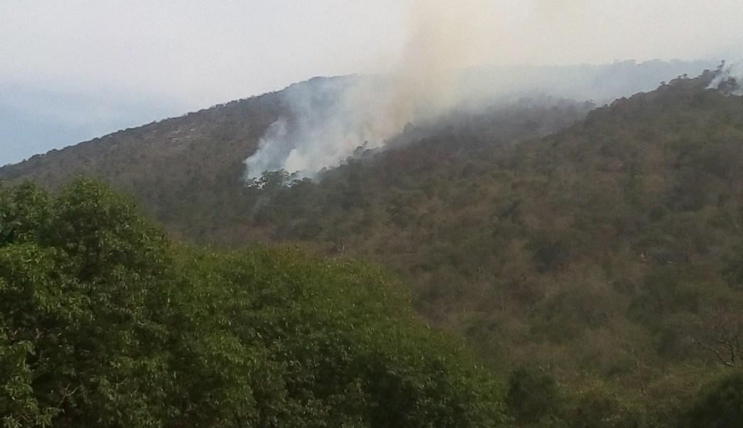 Foto: Incendio forestal en Querétaro, 27 de mayo 2019. Twitter @CONAFOR