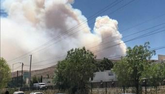 Foto: incendio en la Sierra de San Miguelito, 7 de mayo 2019. Twitter @SSP_SLP