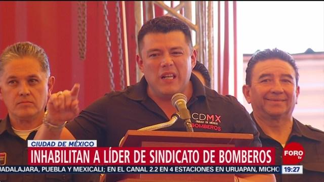 Foto: Inhabilitan Ismael Figueroa Líder Bomberos Cdmx 8 de Mayo 2019