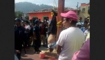 Foto: Intentan linchar a presunto ladrón en Chiapas, 3 de mayo 2019. Noticieros Televisa