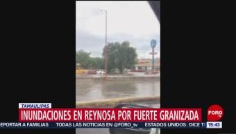 FOTO: Inundaciones en Reynosa por fuerte granizada