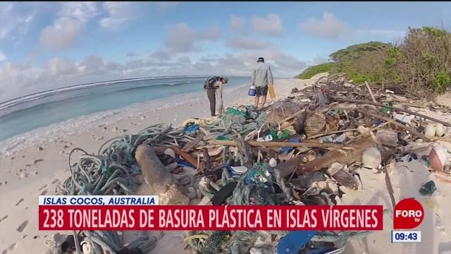 Islas Cocos de Australia, invadidas con basura de plástico
