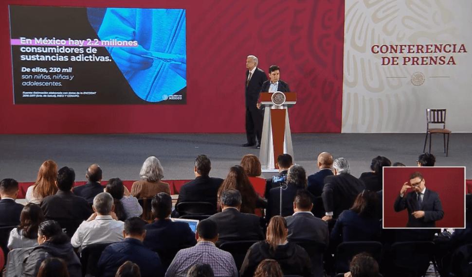 Foto: Jesús Ramírez Cuevas en conferencia de prensa con López Obrador, 16 de mayo de 2019, Ciudad de México