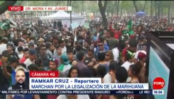 FOTO: Jóvenes toman calles de CDMX en Marcha Mundial de la Marihuana, 4 MAYO 2019