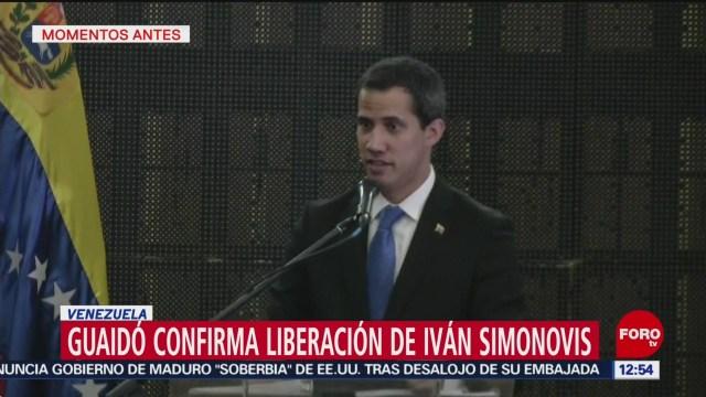 Juan Guaidó confirma liberación de Iván Simonovis en Venezuela