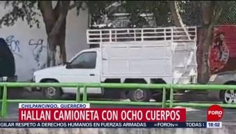 FOTO: Localizan camioneta con ocho cuerpos con huellas de violencia en Chilpancingo, Guerrero, 26 MAYO 2019