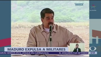 Maduro expulsa a 55 militares en Venezuela
