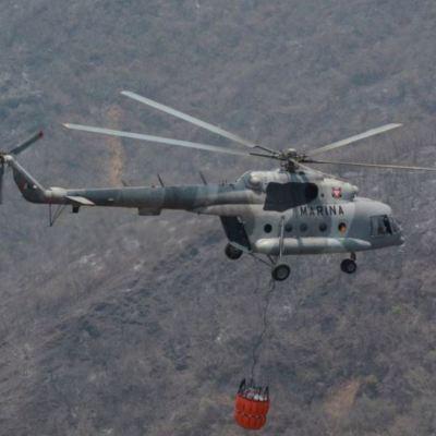Localizan cuerpos de tripulantes de helicóptero de la Marina siniestrado